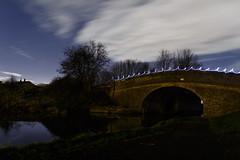 Bridge 136 - Light Painting (33/365) (Rachael Webster UK) Tags: project365 365project 365challenge canon ellesmereportbridge cheshire shropshireunioncanal canal longexposure longexposurephotography lightpainting lighttrails nightphotography night stars fltofb canon650d 650d