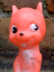 Combex Squirrel (The Moog Image Dump) Tags: combex squirrel toy figure squeaker squeaky cute kawaii animal red pink vinyl