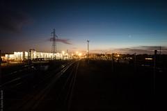 Maintenance Hall (Julien_Benoit) Tags: nantes lights train moonlight nightview nantesmaville