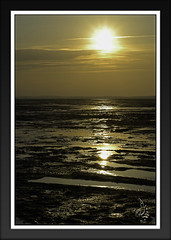 Golden sand (orichier) Tags: france arcachon ocean sea water sun sunset sky cloud seascape beach