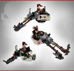LSB2018 - Red Wolf's lethal chopper: angles (Faber Mandragore) Tags: lego moc speeder district18 district 18 rebel criminal gang lsb faber mandragore fabermandragore