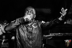Oceano (Damian John) Tags: oceano damianjohnphoto mamaroux gig concert blackandwhite monochrome dethcore deathmetal metal rock birmingham guitar guitarist drums drummer drumming bass bassist singer vocalist vocals