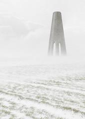 Invasion (www.neilburnell.com) Tags: snow blizzard daymark brixham kingswear wwwneilburnellcom neil burnell white minimal minimalism ngc