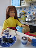 14. Happy snow day, Hudson! (Foxy Belle) Tags: doll miniature hot cocoa chocolate dollhouse 16 scale playscale barbie food make skipper sisters bend leg brunette dog kitchen diorama blue white delft tin vintage cookies