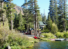 The Lake Life, Twin Lakes, Sierra Nevada, CA 10-17 (inkknife_2000 (9 million views)) Tags: mammothlakes twinlakes usa landscape sky stillwater california sierranevadamountains alpinelakes dgrahamphoto lakecabin lakelife boats canoes boatsinwater forest mountains thegoodlife