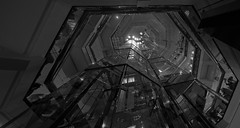 Water Tower Place (Jovan Jimenez) Tags: canon eos m3 efm 22mm f2 stm monochrome macy chicago interior lines shapes black white gray pano autopanopro giga pixel kolor water tower place glass elevator