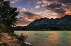 Tramonto al lago (SDB79) Tags: lago tramonto rosso castel san vincenzo montagna molise paesaggio panorama natura luce