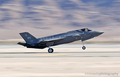 F-35 Lightning II Slowww exposure panning shot (Lebowitz Photography) Tags: aviation nation air show 2017 military aircraft fighter jet nellis force base afb f35 joint strike lightning ii lockheed martin