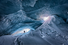 Frozen in Time  (On Explore 2018-01-30) (Sigurdur William Photography) Tags: ice cave iceland arctic shots man snow glacier explore cold winter awe awesome incredible big