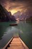 ALONE ..... CASTAWAY? (AlbertMu7) Tags: mountain lake water bahía cielo sky serenity bote paysage calm landscape paisaje agua colorful colours