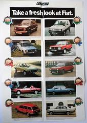 Fiat fold out leaflet March 1983 (dougie.d) Tags: fiat panda pandasuper 903cc uk fiatuk gb brochure car auto leaflet