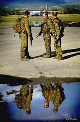 Australian Defence force arrives in Honiara, Solomon Islands 2003. Photo: Gary Ramage, Australian Defence