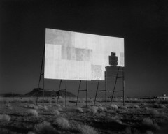 double feature (infrared). parker, az. 2018. (eyetwist) Tags: eyetwistkevinballuff eyetwist 4x5 bw infrared drivein theater movie cinema abandoned ruins screen arizona blackwhite black white desert fotoman 45ps efke efkeir820 fujinon 150mm fotoman45ps fujinonw150mmf56 film emulsion filmexif iconla epsonv750pro lenstagger largeformat ishootfilm analog analogue sheetfilm americana americantypologies landscape arid highdesert usa roadtrip roadsideamerica contrast southwest drive parker tumbleweeds billboard deserted doublefeature ir