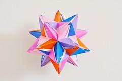 Histria Kusudama (Byriah Loper) (Byriah Loper) Tags: origami origamimodular modularorigami modular kusudama kami byriahloper paperfolding paper polygon polyhedron