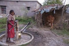Kawardha - Chhattisgarh - India (wietsej) Tags: kawardha chhattisgarh india konica minolta digital camera tamronspaf1750mmf28xrdiiildaspif 1750 working girl tribal rural village water pump wietse jongsma bhoramdeo