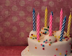 Un-Birthday. (catherine4077) Tags: birthday cake candles sprinkles icing whiteicing sweets desserts