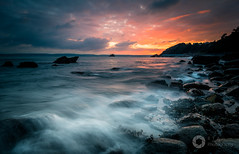 On To The Rocks (Explore 12/01/2018) (RTA Photography) Tags: nikond750 nikkor1835 sunset torquay torbay southdevon rtaphotography light sea wave rocks nature outdoors sky water seascape landscape clouds meadfoot meadfootbay explore daarklands