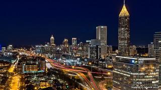 Atlanta, GA: Midtown skyline viewed from the south