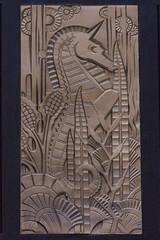 Art Deco Seahorse,  New York (Mike Sirotin) Tags: architecturephotography artdeco travelphotography nyc newyorkcity seahorse newyork panel financialdistrict architecture travel ny