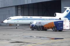 Заправка (Viacheslav Smolensky) Tags: аэропорты емельяново красноярск самолеты ту154 airunion krasair