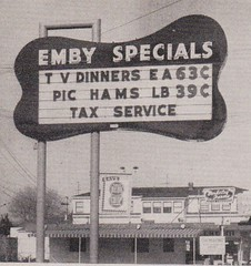 EMBY Specials Sign by Electrical Products Corporation, Oakland, Calif. (hmdavid) Tags: electricalproductscorporation epco vintage sign roadside advertising emby specials store oakland 1950s modern california