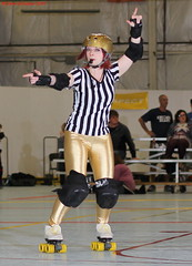 IMG_8649 crop 1 (KORfan) Tags: rollerderby barbedwirebetties cabinfeverscrimmage referees officials