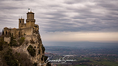 Pass of the witches at Republic of San Marino (Brambilla Simone Photography) Tags: witches ancient antique architecture building castle city cloudy europe fort fortification fortress guaita historic history italian italy landmark landscape marino medieval mount mountain old panoramic pass passo republic rimini rocca rock san sky stone streghe titano tower town travel tree view wall cittàdisanmarino sanmarino sm