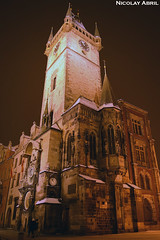 Prague's Old Town Hall (Nicolay Abril) Tags: praga praha prag prague prága česko českárepublika républiquetchèque tchéquie repúblicacheca chequia czechrepublic czechia csehország csehköztársaság tschechien tschechischerepublik lowangle