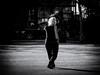 Swordplay (Feldore) Tags: newyork sword tai chi park elderly woman scarf behind balance balancing hands feldore mchugh em1 olympus 35100mm panasonic poise outside