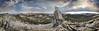 Panorama from Columbia Finger - Yosemite (Bruce Lemons) Tags: sierranevada mountains backpacking hike hiking wilderness landscape california yosemite columbiafinger panorama mark cathedralpeak echopeaks jmt johnmuirtrail cloudsrest tressiderpeak halfdome lake