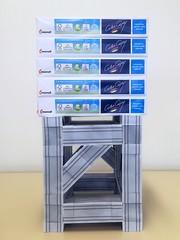 ZEBRA cubical truss segment, load test (ISO_rigami) Tags: modular origami 3d a4 zebra cube truss framework paper construction 7osme eckhardhennig