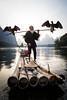 Cormorant Fisherman in Guilin (mlhell) Tags: animals china cormorantfishermen guilin karstmountains landscape lijangriver mountains nature portrait river rural xingping