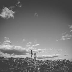 Mother and son (erictrehet) Tags: bretagne blanc black nikon noir white carré extérieur nuage cloud campagne ciel calme d610 nikkor 1835 monochrome paysage