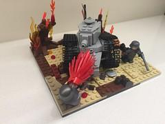 Battle of Verdum 1916 (Frosty Bricks) Tags: ww1 ft17 lego battle verdum