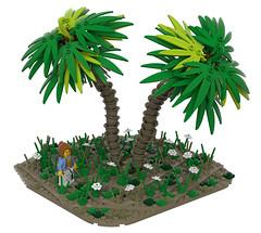 Exploring Celestia- Pith palms (Ayrlego) Tags: lego legodigitaldesigner brethrenofthebrickseas bobs palmtrees corrington celestia challengeieraii