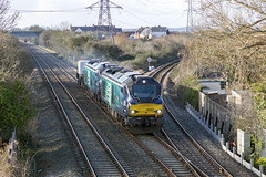 Photo of 68001 & 68018, 6M63 Worle Junction.
