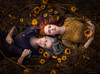 Mother & Daughter ({jessica drossin}) Tags: jessicadrossin woman women mother daughter sunflowers flowers cane age youth sickness play portrait conceptual weeds dress pattern naturallight wwwjessicadrossincom