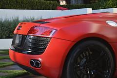 red audi r8 black wheels (Exotic & Luxury Cars) Tags: audir8 r8 audi red sportscar exoticcar 777exotics exotic rental car luxury supercar 2900srobertsonblvd