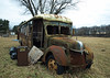 All she needs is new spark plugs (johnboy1260) Tags: savanna illinois school bus abandoned mississippi river