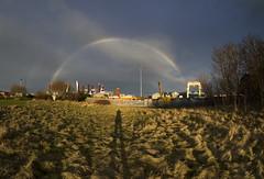 Rainbow (zubzubadoodle) Tags: rainbow ks1 samyang 8mm outdoor shadow fisheye