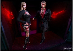 ♥ We are Ready ? ♥ (ladychrissseyyal) Tags: ♥ we ready her makeupsass glitter nights eye makeup sass the chapter four tattootd love vs hate tattoo td bodyfy outfithu 04 vayne boleroblack red 07 dressblackred 09 thongred 12 holster with gunred 19 heelsred 28vayne bionic legblack rare 33 pantsold black ultrarare hu ♠ special thanks model kinky
