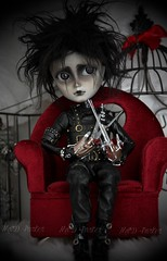 Edward (Ma✰D (parker) - Dolls, Customisation & The Cat) Tags: timburton ooak customisation poupée taeyang edwardscissorhands gothic gothique doll