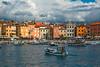 Coming Home (fotofrysk) Tags: rovinjharbour harbour boats clouds entry buildings architecture easterneuropetrip croatia rovinj istria dalmatiancoast sigma1750mmf28exdcoxhsm nikond7100 201710040151