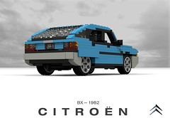 Citroen BX (lego911) Tags: citroen bx 1982 1980s hatch hatchback 5dr 5door france french auto car moc model miniland lego lego911 ldd render cad povray