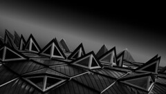Fragment (Pat Photographs) Tags: shape tone form line texture light lighting contrast bnw blackandwhite bw grayscale monochrome design exterior architecture diagonal white black fineart fineartphotography structure building perspective abstract abstractphotography