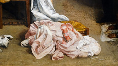 Courbet, The Studio, detail with dress on floor