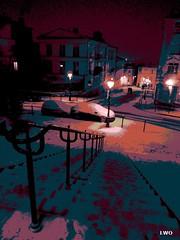 """From my """"Photopeintures"""" series (LWO) Tags: photopeinture paris winter quartier montmartre street rue peinture painting art numérique digital paintingphoto neige snow snowy landscape paysage enneigé urban urbain 18emearrondissement photopeintures"""