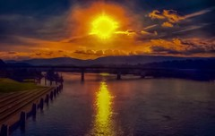 Happy Tuesday. (Roland 22) Tags: clouds sky flickr lightroom reflection sunset tennesseeriver chattanoogatennessee