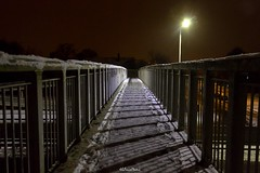 A41 Edgware Way (Footbridge), Edgware (LFaurePhotos) Tags: londonboroughofbarnet londonbynight snow streetsoflondon a41 edgware lfaurephotos