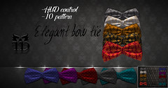 Elegant bow tie FATPACK (TreizedDesigns) Tags: hipster bow tie bowtie vintage free gift group lindens ls hipsteric hud treized designs treizeddesigns accesories elegant elegance spain 100 mesh fit fitted winterboots sweat shirt pants waist sexy